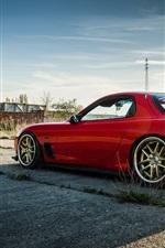 미리보기 iPhone 배경 화면 뒷면의 마즈다 RX-6 빨간색 자동차 측면보기