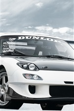 Mazda RX-7 white car front view