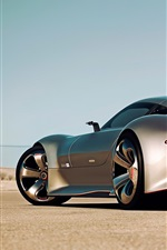 Preview iPhone wallpaper Mercedes-Benz AMG Vision Gran Turismo silver car back view