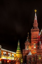 Preview iPhone wallpaper Moscow, Russia, Red Square, State Historical Museum, night