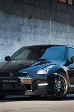 Nissan GTR R35 black Vilner car