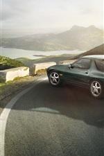 Preview iPhone wallpaper Porsche 928 GTS 1991 green car