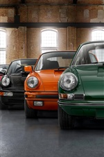 Preview iPhone wallpaper Porsche model range, seven colors car
