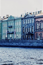 Preview iPhone wallpaper St. Petersburg, Russia, canal, river, house