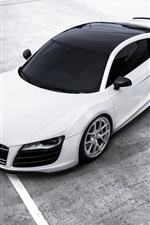 Preview iPhone wallpaper Audi R8 white car top view