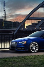 Audi S5 blue car in city
