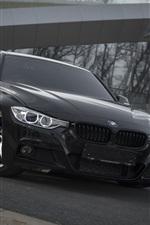 iPhone fondos de pantalla BMW F30 coche negro vista frontal