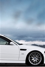 Preview iPhone wallpaper BMW M3 E46 white car side view