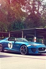 Preview iPhone wallpaper Blue Jaguar Project 7 Concept nice car