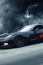Chevrolet Corvette black supercar, creative design