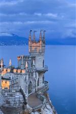 Vorschau des iPhone Hintergrundbilder Krim, Abend, Küste, blau Nacht