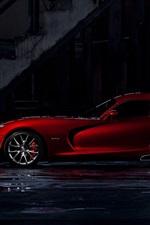 Dodge Viper GTS red supercar