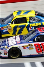 Preview iPhone wallpaper Ford, Chevrolet, Nascar, race car, sports, speed