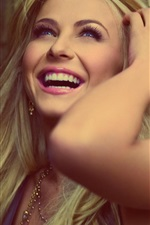Preview iPhone wallpaper Happy girl smile