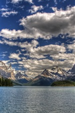 Preview iPhone wallpaper National Park Canada, sky, sea, mountains