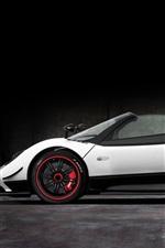 Preview iPhone wallpaper Pagani Zonda roadster, white supercar side view