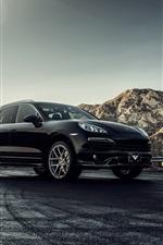 Preview iPhone wallpaper Porsche Cayenne 2013 black car