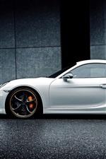 Preview iPhone wallpaper Porsche Cayman white car