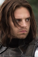 Preview iPhone wallpaper Sebastian Stan, Captain America: The Winter Soldier, Bucky Barnes