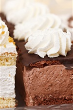 Preview iPhone wallpaper Three kinds cakes, cake, cream