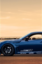 Preview iPhone wallpaper Toyota GT86 blue sport car side view