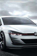 Preview iPhone wallpaper Volkswagen Golf GTI white car