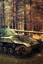 World of Tanks, árvores, floresta