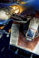 Preview iPhone wallpaper Y-Wing starfighter, Star Wars, art pictures