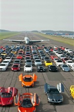 Preview iPhone wallpaper Aircraft, supercars, road