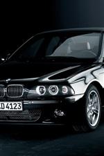 BMW 5 Series E39 black car