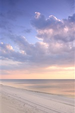 Preview iPhone wallpaper Curonian Spit, Lithuania, Baltic Sea, beach, sunset