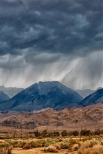 Preview iPhone wallpaper Eastern Sierra, Nevada, mountains, desert, lightning