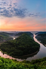 Preview iPhone wallpaper Germany, natural park, resort, river meander, sunset