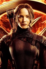 Vorschau des iPhone Hintergrundbilder Jennifer Lawrence, The Hunger Games: Mockingjay Teil 1