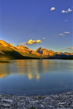 Preview iPhone wallpaper Lake, mountain, sunset, Canada