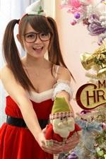 미리보기 iPhone 배경 화면 메리 크리스마스, 소녀, 휴일