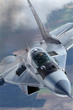 Preview iPhone wallpaper MiG-29A fighter, missiles