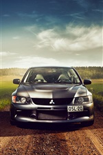 Preview iPhone wallpaper Mitsubishi Lancer car front view