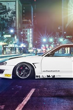 Preview iPhone wallpaper Nissan silvia S13 car, street, night