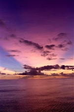Preview iPhone wallpaper Pacific Ocean, evening, sunset, sky, clouds