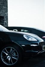 Porsche Cayenne Panamera black SUV car
