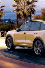 Preview iPhone wallpaper Porsche Cayenne SUV car back view