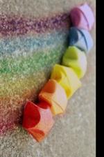 Rainbow chalk, colorful, creative, colors, lines, stars