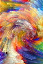 Preview iPhone wallpaper Rainbow pattern, colorful lines, abstract pictures