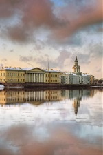 Preview iPhone wallpaper Saint-Petersburg, houses, river