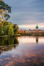 Preview iPhone wallpaper Schloss Charlottenburg, Berlin, Germany, lake, autumn, trees