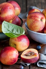 Preview iPhone wallpaper Sweet fruit, red nectarines, blueberries