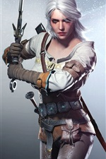 Preview iPhone wallpaper The Witcher 3: Wild Hunt, beautiful girl