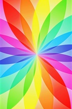 Preview iPhone wallpaper Abstract design, circle sector, flower, rainbow