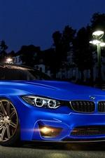 BMW 4 Series M4 blue car